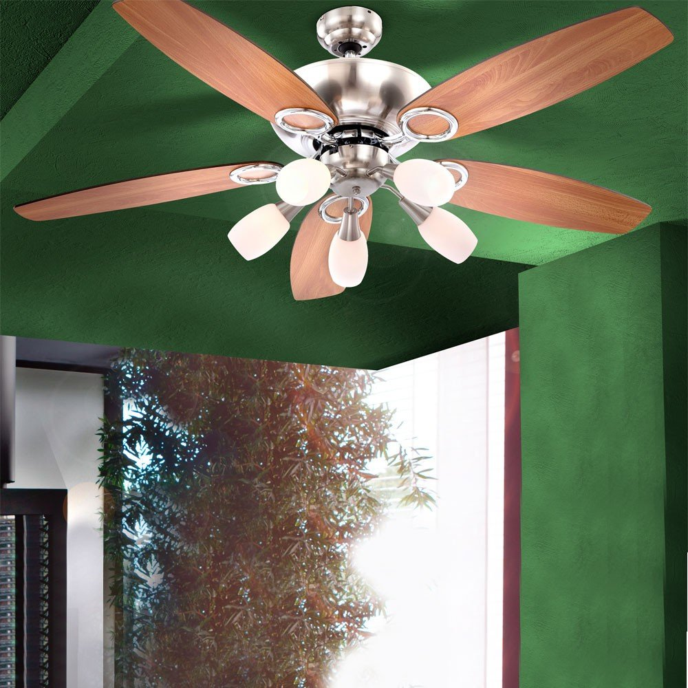 Deckenventilator Ventilator Mit Zugschalter Beleuchtung Globo Jerry 0337 034037 Amazonde