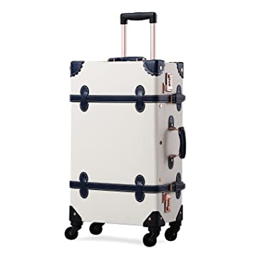 79370743b26d Unitravel Vintage Suitcase Hard Shell Rolling Carry On Luggage Trolley  Retro Trunk