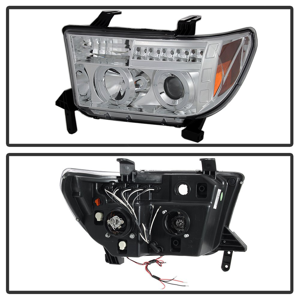 2007 2012 Toyota Tundra Halo Projector Head Lights 2014 Headlight Wiring Diagram Auto Headlights 8 Led Fog Lamps Automotive