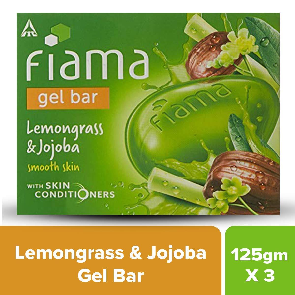Fiama Di Wills Lemongrass & Jojoba Gel Bar, 125g (Pack Of 3)