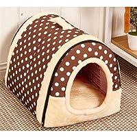 Maison et canapé 2en 1pour animal domestique, Nid douillet, lit-maison très chaud, isotherme et rembourré pour chien, chat ou chaton