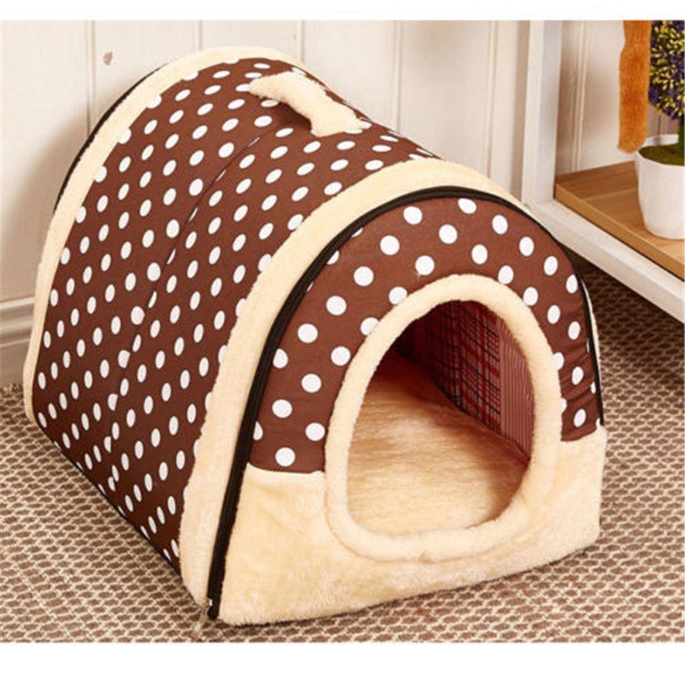 Iglú/sofá 2 en 1 para mascotas, diseño acolchado muy cálido para perros y gatos: Amazon.es: Productos para mascotas