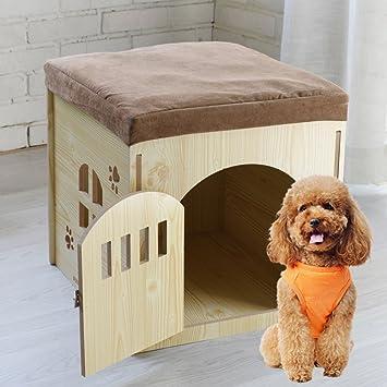 Nclon El Conejo Perro Gato Casa Vivienda Cambio de Taburete de Zapatos Extraíble Jaulas para Mascotas