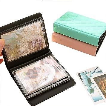 Zhi Jin Cuir Mini 36 poches Album photo pour Fujifilm Instax Polaroid  Taille Macaron Tableau Housse ce9ccd91b394