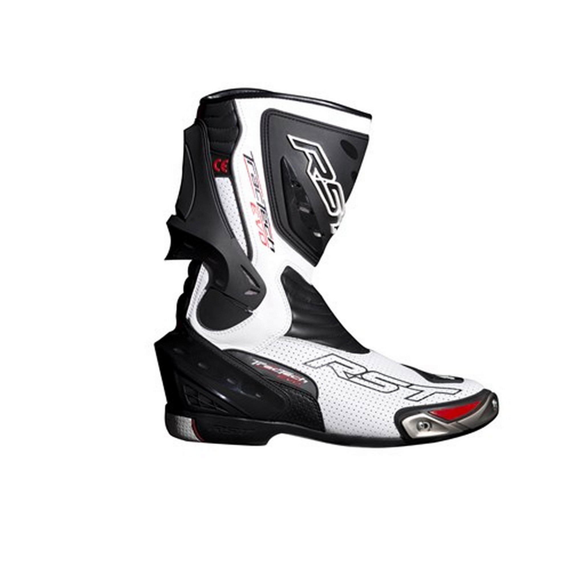 RST Tractech Evo 1516 Motorcycle Sports Race Boot White