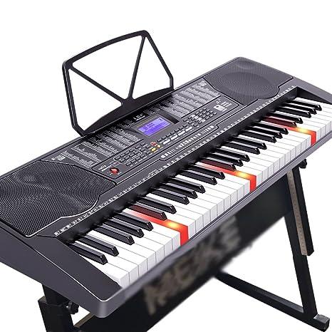 DUWEN Luces con Balas Teclas de Piano DE 61 Teclas Teclado Inteligente de Funciones Múltiples Conectar