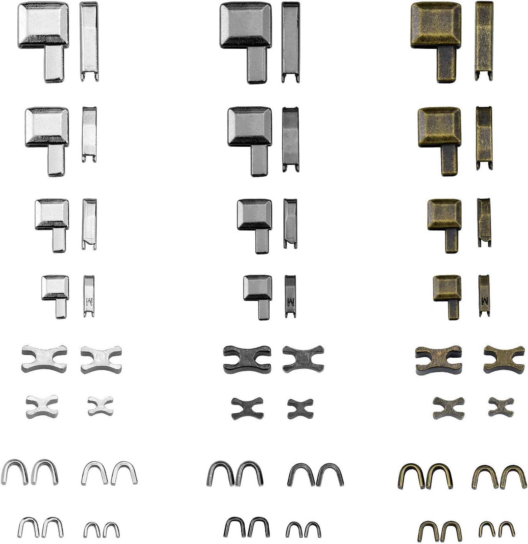 24 Sets Cremallera de aleación Cremallera Inferior y Cremallera ...