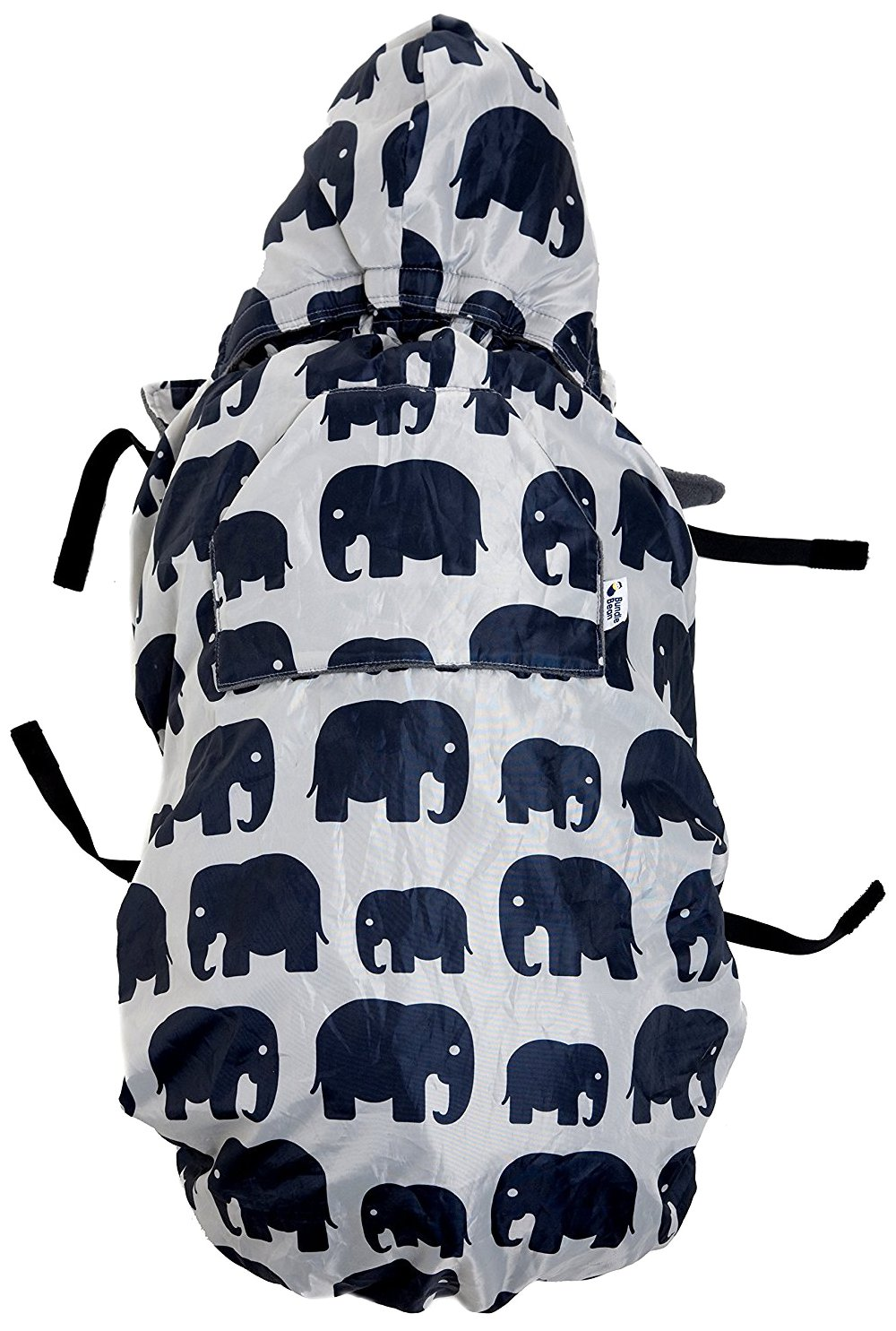 BundleBean babywearing:all-weather waterproof sling and carrier cover (Grey Elephant) BBBWGEL