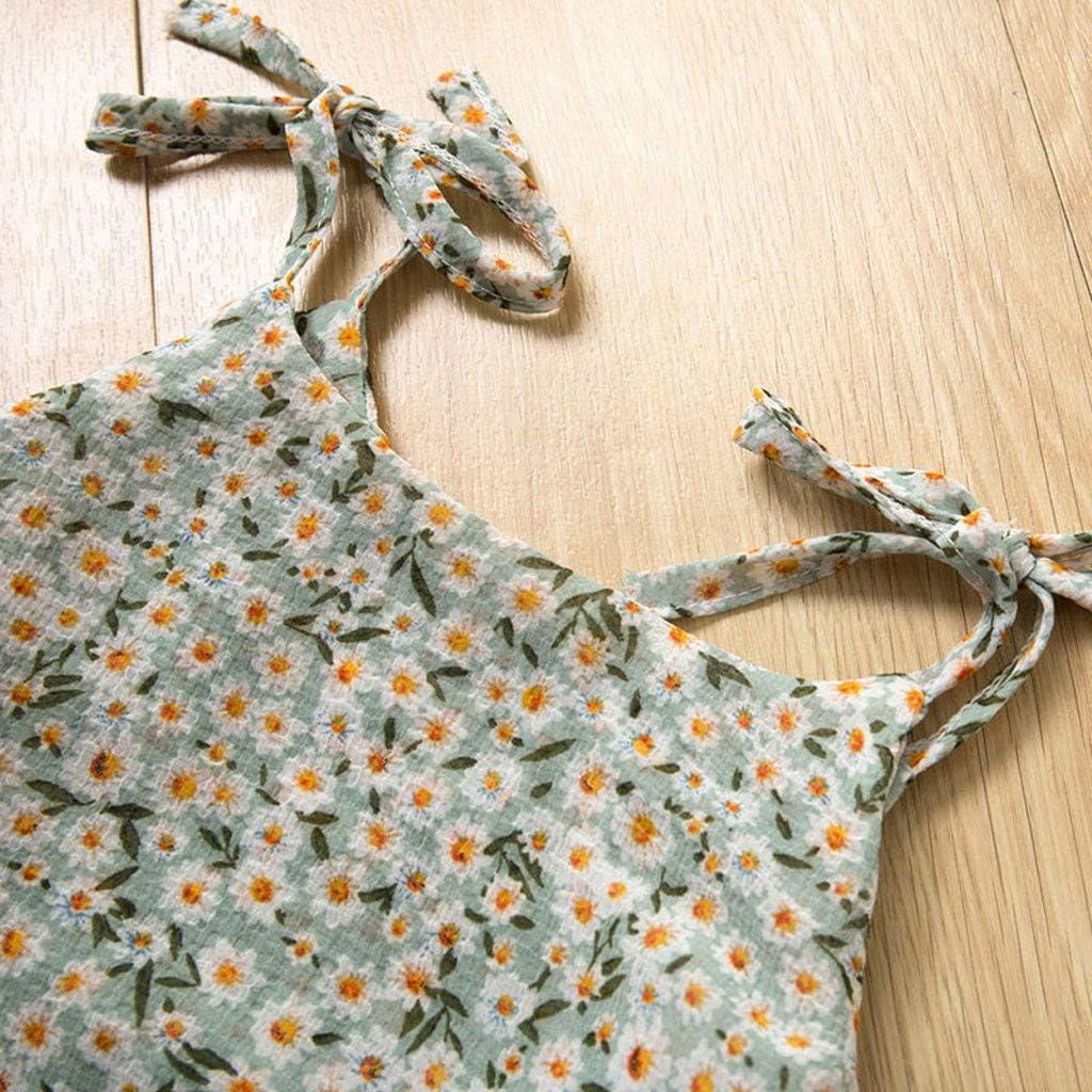 Hut Set Shorts Hosen Bekleidungssets Kleinkind Kinder Prinzessin Kost/üm Baby M/ädchen Kleidung /Ärmelloses Sommerkleidung Outfits Kleidung Chiffon Floral Weste