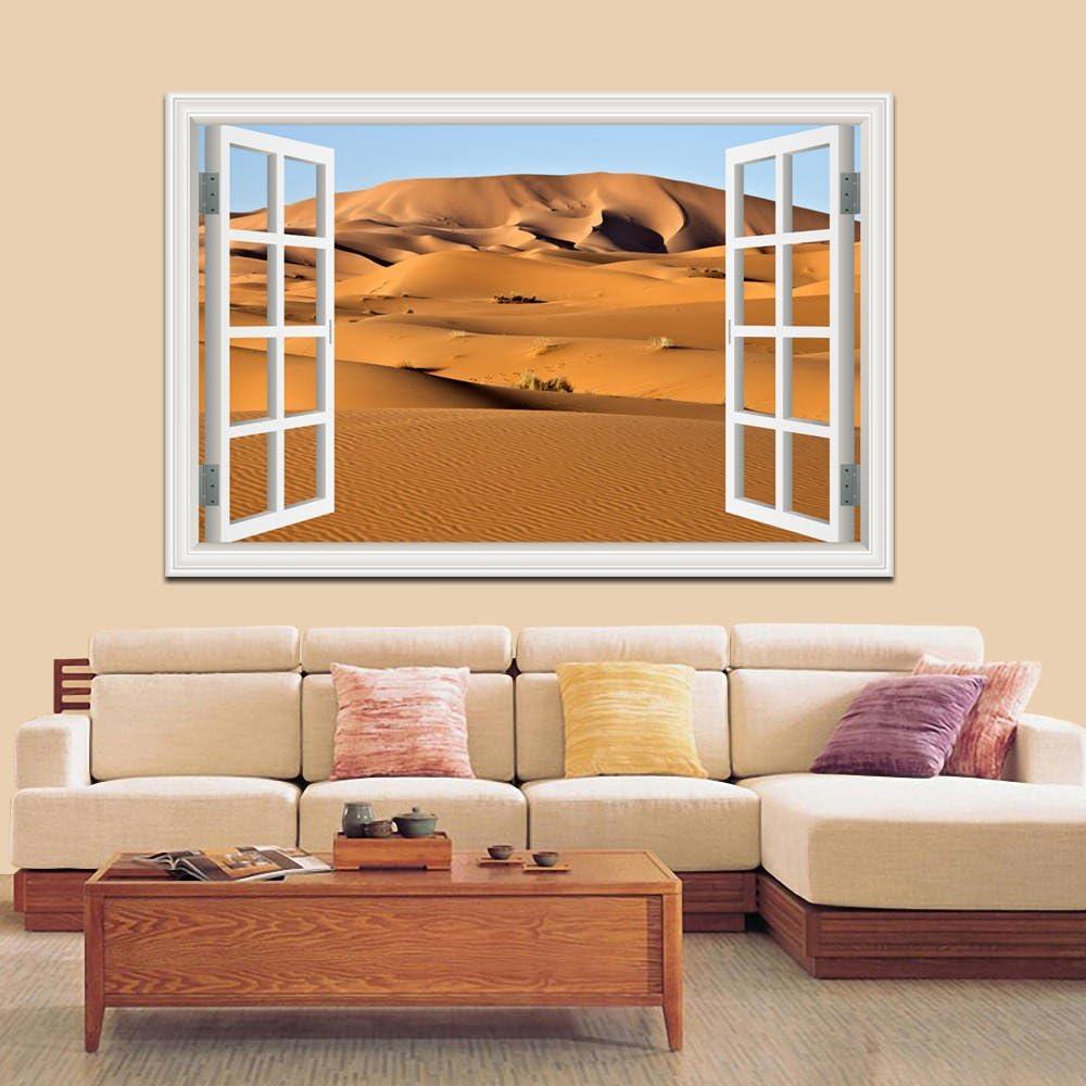 Details about  /3D Sand Painting 893RAI World Map Wall Stickers Vinyl Wallpaper Murals Honey
