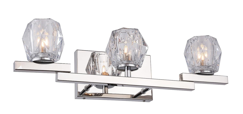ウッドブリッジ照明18553 Chrleジュエル3ライトBath with LED電球 B0779YLSCM