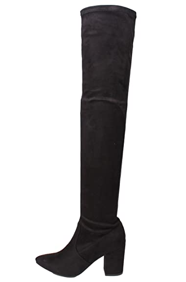 3fd4bfecf889 Delicious Women s Pointy Toe Over The Knee HIgh Heel 3 1 4 quot  Boot (