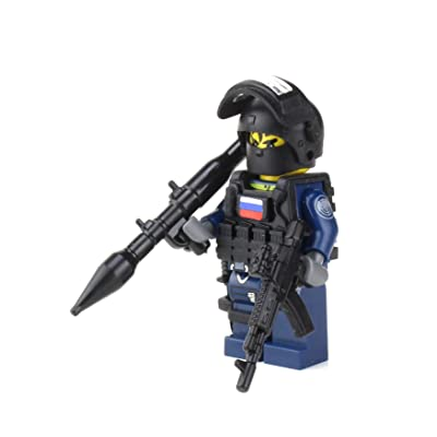 Battle Brick Russian Spetsnaz Special Forces Soldier (SKU44) Custom Minifigure: Toys & Games