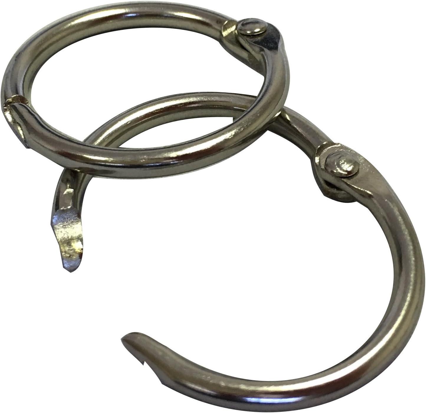 Loose Leaf Binder Rings Silver 50mm 25 Pack Capacity 2 Inch