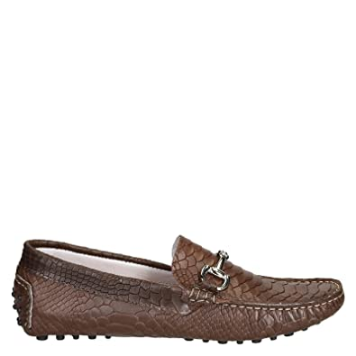 Men's LU4COCCOMARRONE Brown Leather Loafers