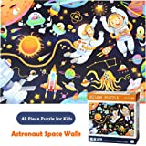 Moruska Jigsaw Puzzles for Kids Ages 4-8 Children 48 Piece Outer Space Puzzles for Kids Toddlers 4 Years Old - Astronaut Space Walk