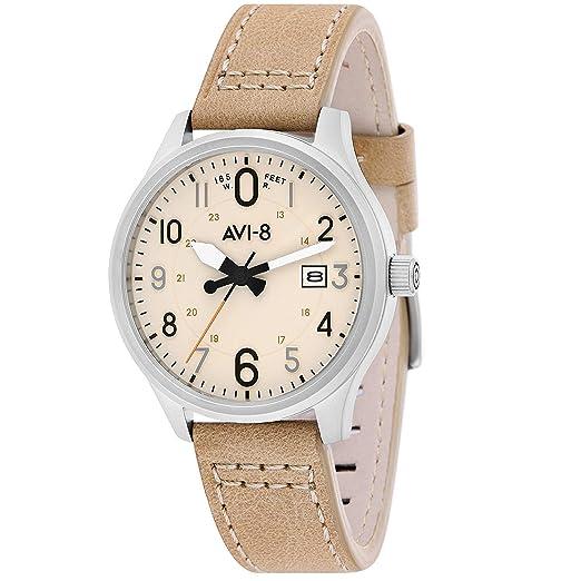AVI-8 Hawker Hurricane Reloj de Hombre Cuarzo 43mm Correa de Cuero AV-4053-0H: Amazon.es: Relojes