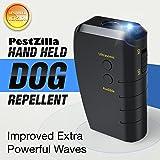 PestZilla Handheld Dog Repellent and Trainer + LED Flashlight / Pocketsize Ultrasonic Dog Deterrent and Bark Stopper + Dog Trainer Device [UPGRADED VERSION]