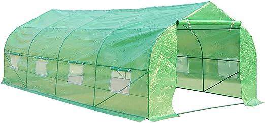 HOMCOM - Invernadero caseta 600 x 300 x 200 Jardin terraza Cultivo de Plantas semilla: Amazon.es: Jardín
