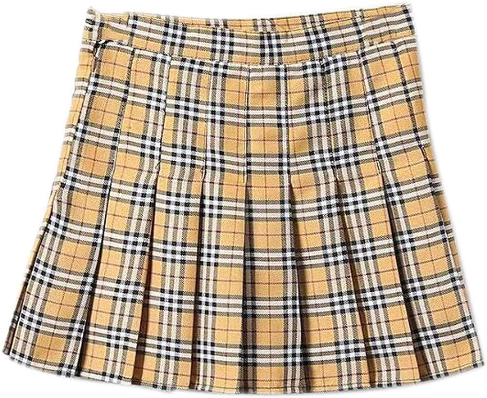 Falda Escolar Corta de Tenis de Patinador Plisada para Mujer ...