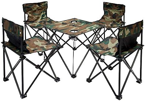 Amanka tavolino sedie di tessuto pieghevole trasportabile in
