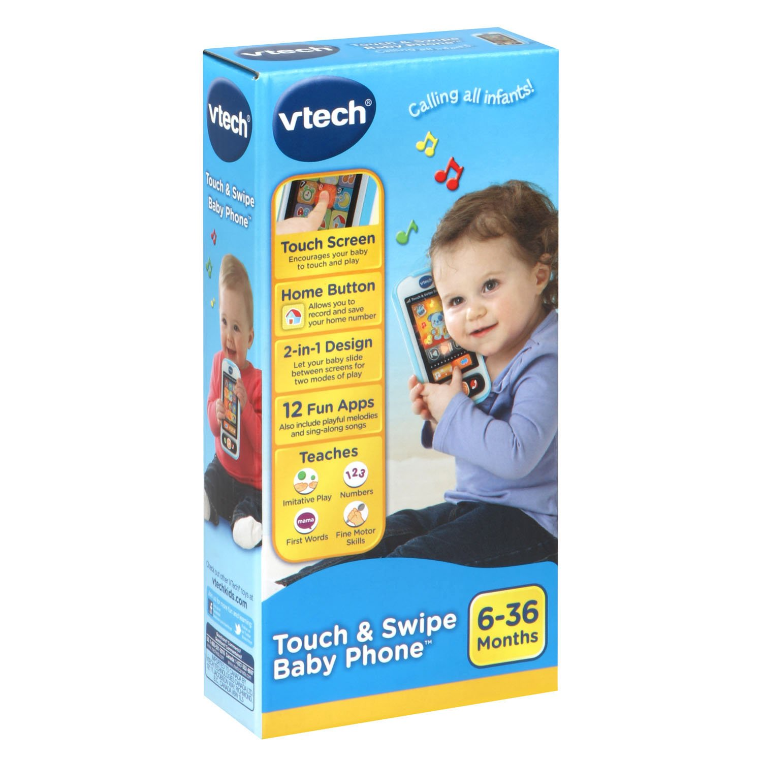 VTech Touch and Swipe Baby Phone, Blue by VTech (Image #6)