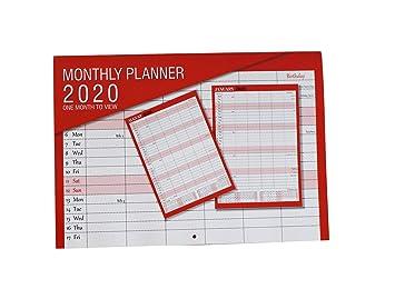 Amazon.com: Arpan - Calendario mensual para colgar en la ...