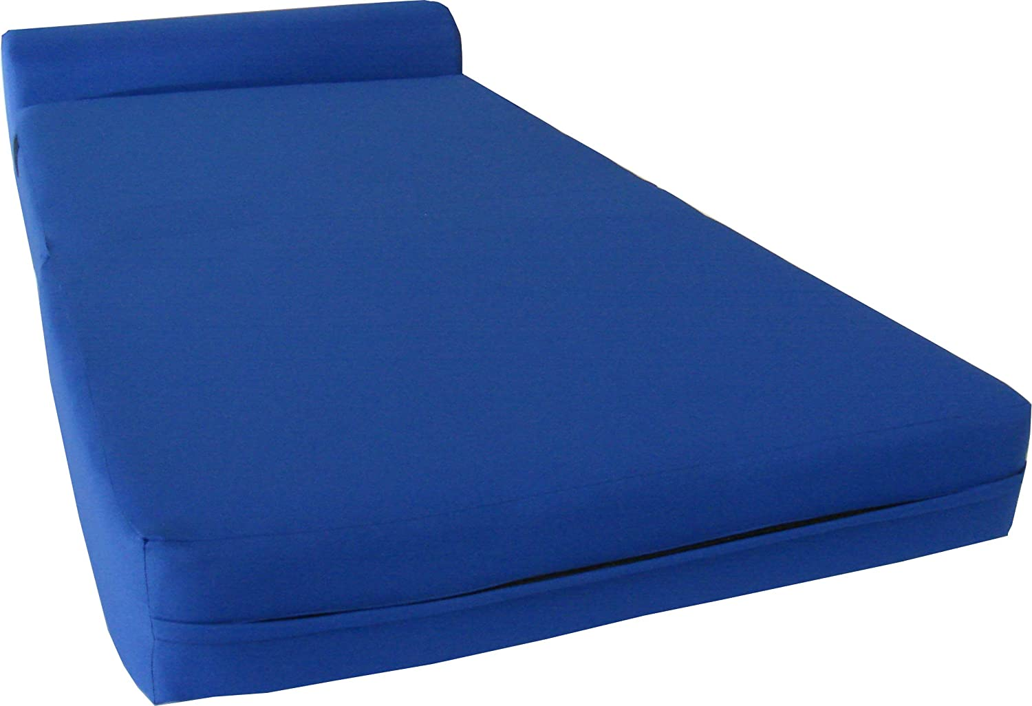 D D Futon Furniture Royal Blue Sleeper Chair Folding Foam Bed Sized 6 Thick X 32 Wide X 70 Long, Studio Guest Foldable Chair Beds, Foam Sofa, Couch, High Density Foam 1.8 Pounds.