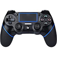 PS4 Controller Wireless Gamepad for PS4/PS4 Pro/PC and Laptop with Vibration and Audio Function, Mini LED Indicator, High-Sensitive Controller with Anti-Slip (Azul)