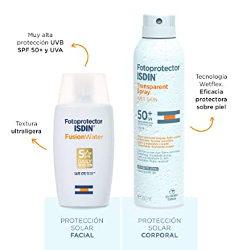 ISDIN PACK Protector Solar Facial Fusion Water SPF 50+ | Protector ...