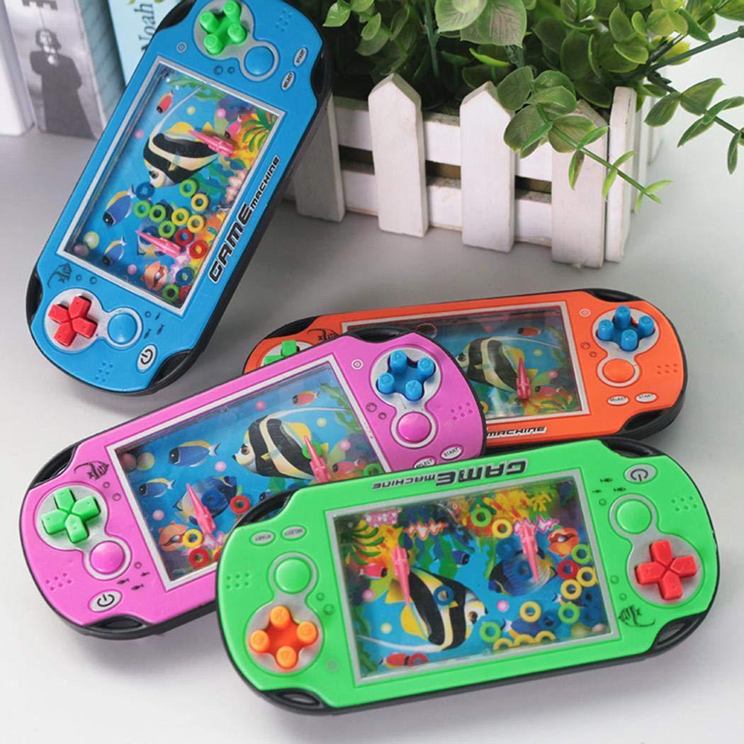 Fanala 1PCS Handheld Fish Water Ring Toss Squeeze Game Machine Educational Toy Handheld Games