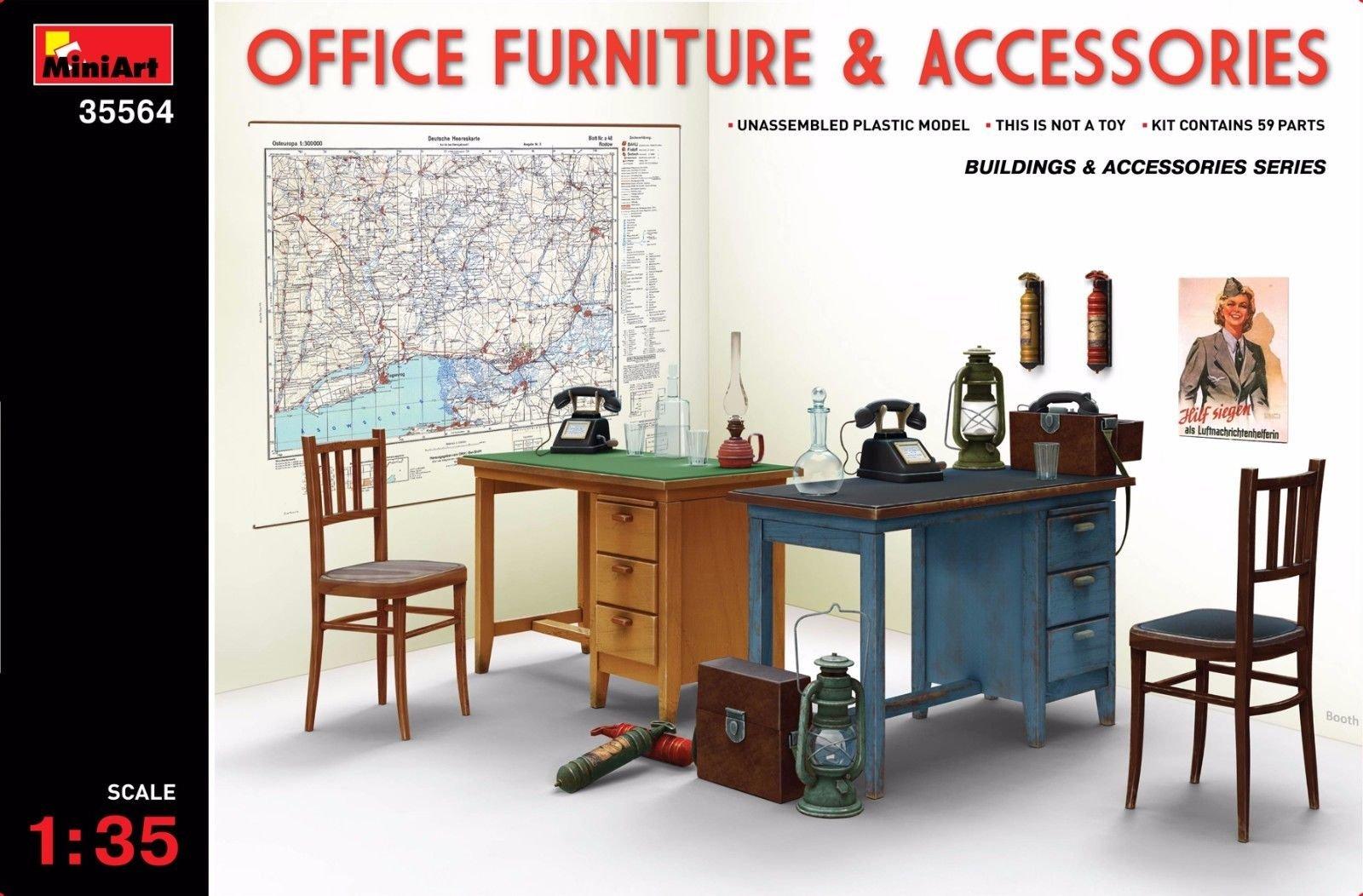 OFFICE FURNITURE & ACCESSORIES 1/35 MINIART 35564