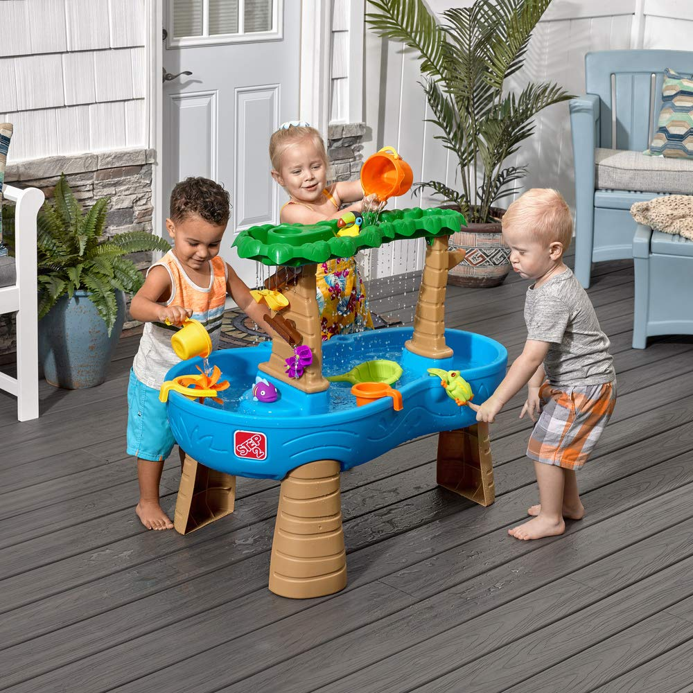 Step2 Tropical Rainforest Water Table | Colorful Kids Water Play Table with 13-Pc Accessory Set by Step2 (Image #2)