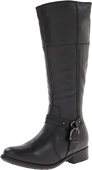 Amazon.com | Clarks Women's Plaza Pug Riding Boot | Knee-High