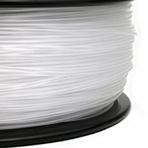 Gizmo Dorks 1.75mm Nylon Filament 1kg / 2.2lbs for 3D Printers, Natural Clear