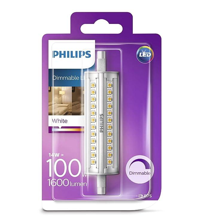 Philips Bombilla LED Lineal R7s, 7.5 W, luz blanca: Amazon.es: Iluminación
