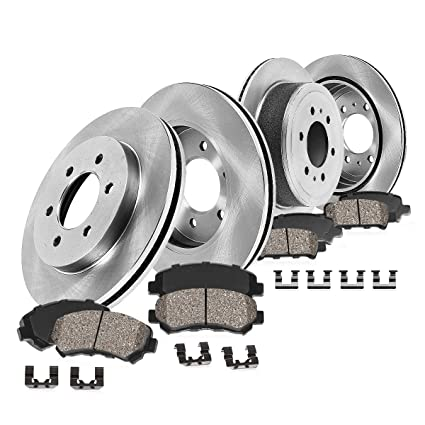 Front and Rear Rotors /& Ceramic Pads For 2009 FORD F150 6 LUG BASE