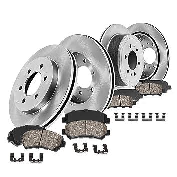 Rotors w//Ceramic Pads OE Brakes Safari Silverado Sierra 1500 Rear