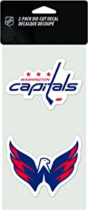 "WinCraft NHL 2-Piece Die-Cut Decal, 4"" x 8"""