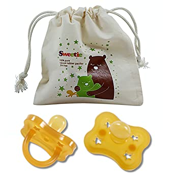 SWEETIE RUBBER ORTHODONTIC PACIFIER 1 Count 0-6 Months Original Natural Rubber Pacifier
