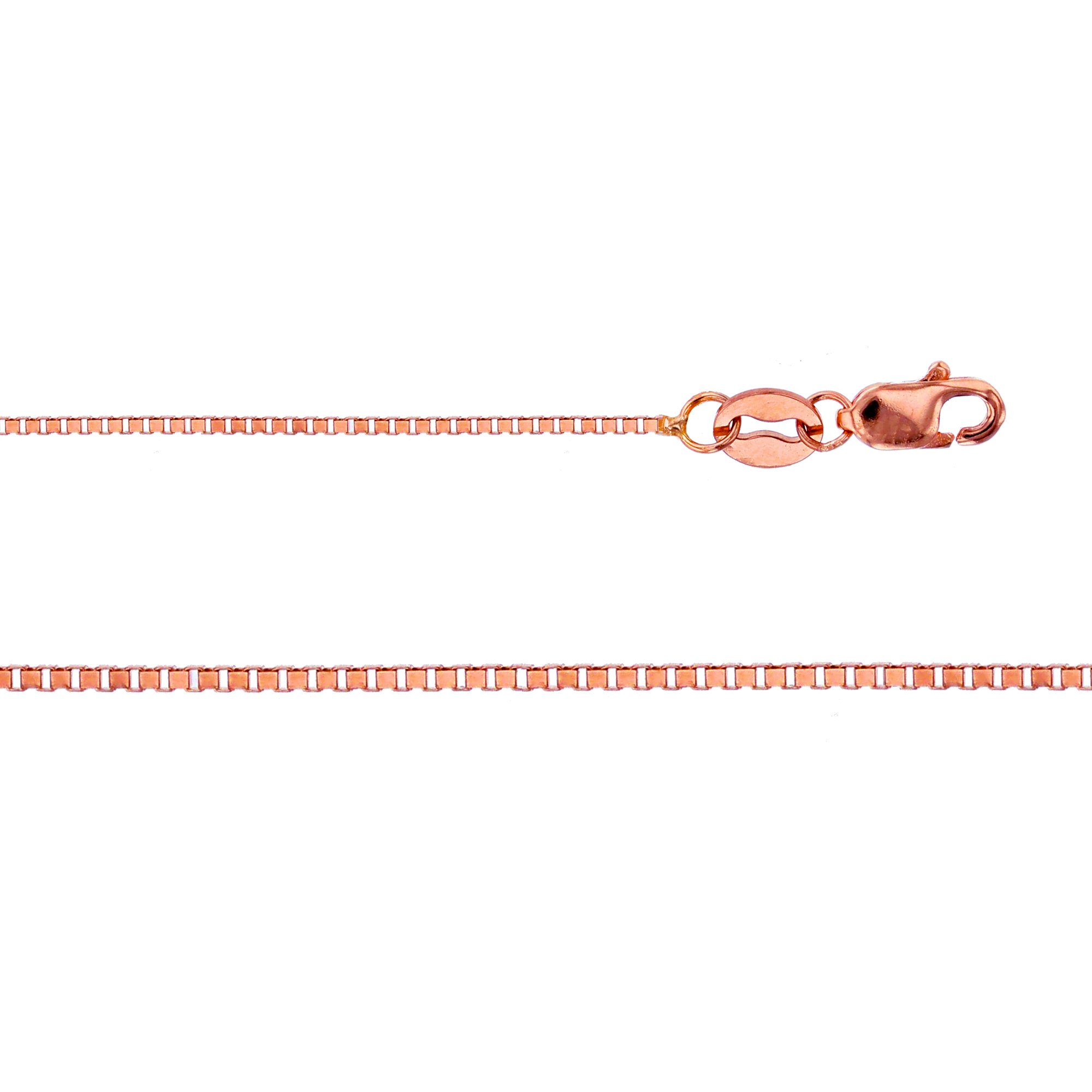 14K Rose Gold Box 012 0.72mm 20'' Pendant Chain by Decadence (Image #2)