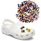 100pcs Random Different Croc Shoe Charms for jibits jibitz Clog Bracelet Wristband Party Gifts