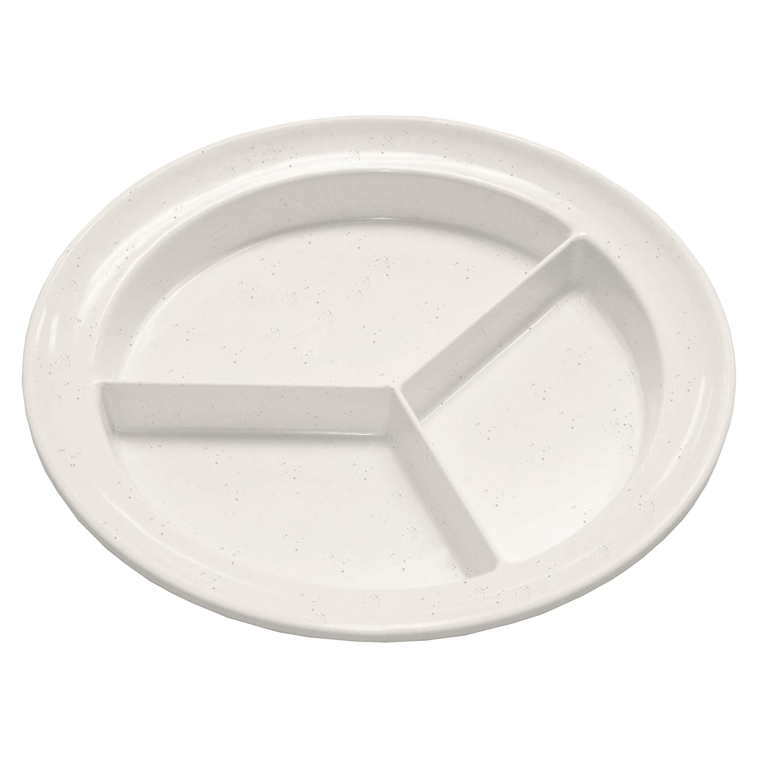 Rehabilitation Advantage Compartment Partitioned Dish for Healthy Eating and Portion Control