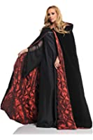 Underwraps Deluxe Velvet Cape w/Quilted Red Lining