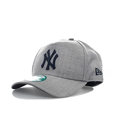 cd2391d1317 New Era Mens Heather 9Forty A Frame New York Yankees Cap in Grey - One Size