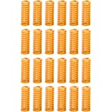 Kasteco 24 Pack 8mm OD 20mm Long Light Load Compression Mould Die Spring Yellow with Storage