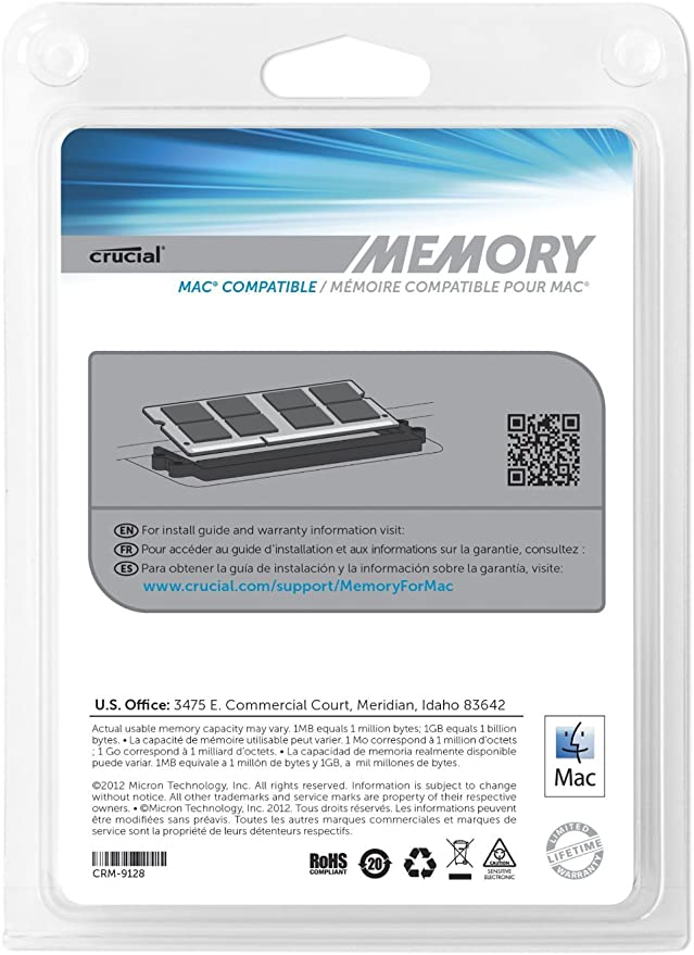 Crucial CT999708 - Memoria RAM de 8 GB (DDR3, 1067 MHz, 2 x 4 GB ...