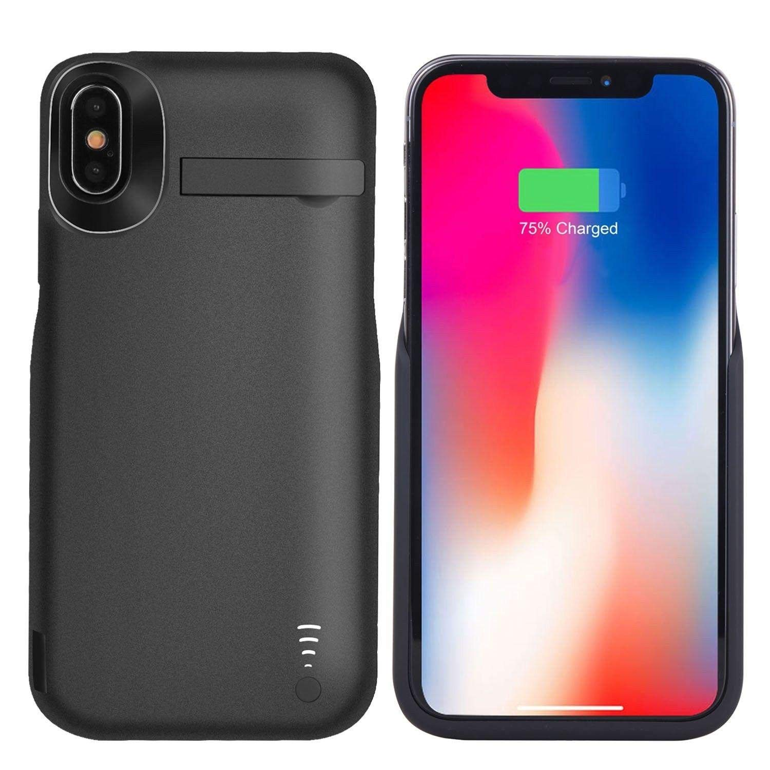 uk availability e8d44 4eb17 JLW Apple iPhone X Battery Case 5000mAh, Rechargeable External Battery  Portable Power Charger Protective Charging Case