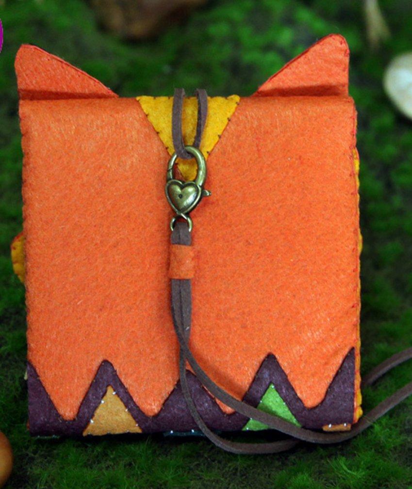 Yasong Fox titulares de tarjetas de formato cartera - bolsa de fieltro apliques kit de costura DIY: Amazon.es: Hogar