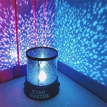 LED Luz nocturna Proyector Estrella Cielo Estrella Luna Master ...